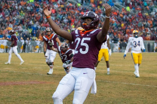 22. Virginia Tech (8-3) | Last game: Defeated Pittsburgh, 28-0 | Previous ranking: 25.