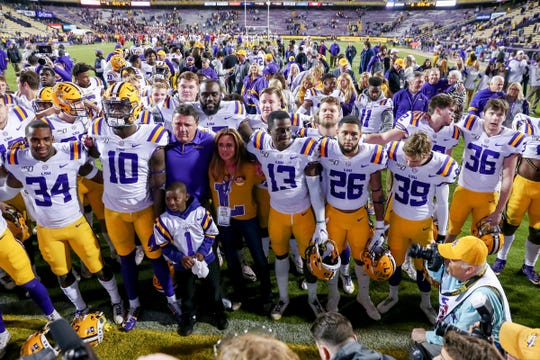 1. LSU (11-0) | Last game: Defeated Arkansas, 56-20 | Previous ranking: 1.