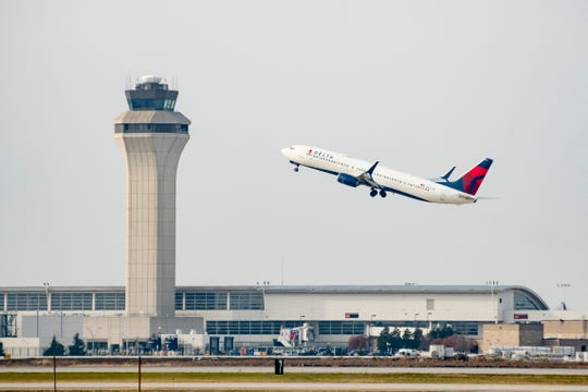 American Airlines is cutting 30% of its flights in April, Delta, the largest carrier at Detroit-Wayne County Metropolitan Airport, by 70% and United Airlines by 60%.