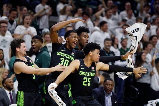 Michigan State remained No. 3 in this week's Associated Press Top 25 college basketball poll, released Monday.