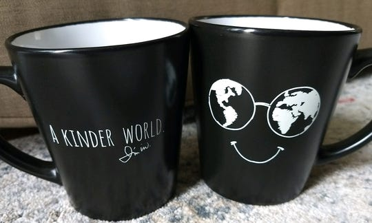 A Kinder World mugs aim to spread cheer.