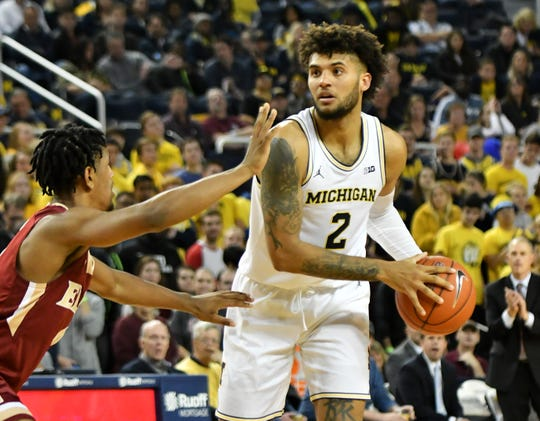 Michigan forward Isaiah Livers (2) says the Wolverines have a chance to see how they measure up in the Battle 4 Atlantis.