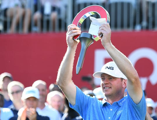 Nate Lashley won the inaugural Rocket Mortgage Classic for his first PGA Tour victory.