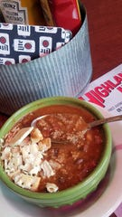 Brothy, beefy chili from the Highland Inn.