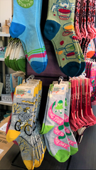 Socks sold at Outside The Gift Box