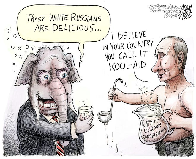GOP, Russia, Ukraine and conspiracies.