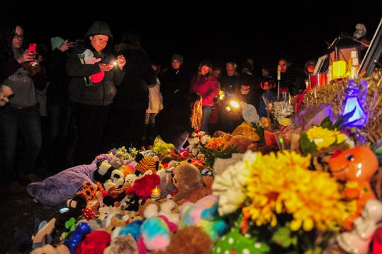 A candlelight vigil was held Nov. 24 to remember five-year-old Antonio Renova