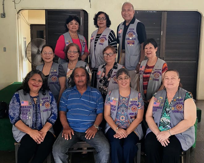 The Guam Sunshine Lions Club provided a monetary donation to help defray medical treatment expenses to Gloria Cordero, 69, of Toto on Nov. 15.  Seated with members is Fidel Ogo who received the donation on behalf of spouse Gloria Cordero.