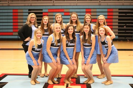 2019-20 UCHS Dance Team  Front row (L to R): Lily Hibbs, Maggy Nelson, Abriel Bennett, Gracie Rhude, Rylie Johnson Back Row (L to R):  Coach Tara Smith,  Delaney Smith, Eva Cassidy, Sarah Luttrell, Haylee Kanipe, Briley Henshaw