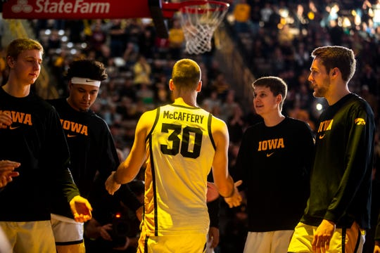 Connor McCaffery is one Hawkeye who will enter a bigger spotlight now that Jordan Bohannon is out for the season.