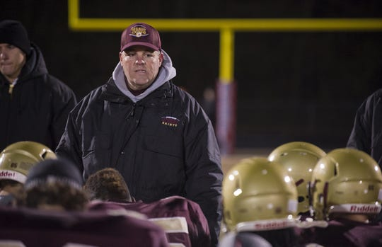 FILE -- Dave Pasch coaches Lutheran High School, which will play for the Class A state football championship in 2019.