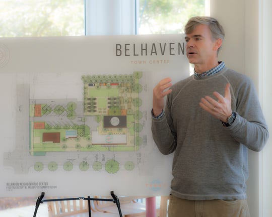 David Turner of David Turner Companies discusses the status of the Belhaven Town Center development at  Campbell's Craft Donuts on Monday, Nov. 25, 2019. The donut shop, part of the development, opens Saturday.