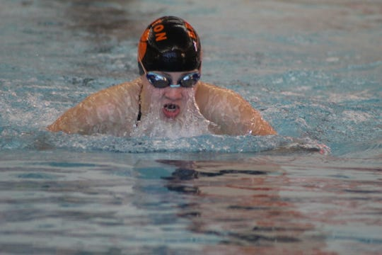 Brighton's Drue Thielking was fourth in the 200-yard individual medley and third in the breaststroke at the state Division 1 swim meet.