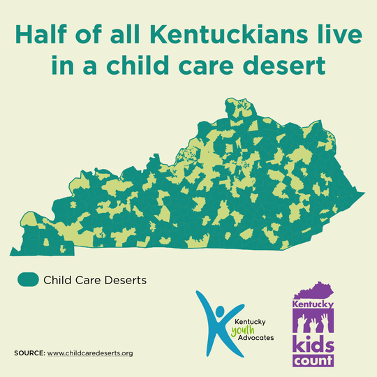 Many Kentucky parents don't have access to child care.