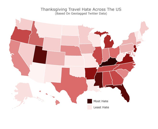Thanksgiving travel hate, rated
