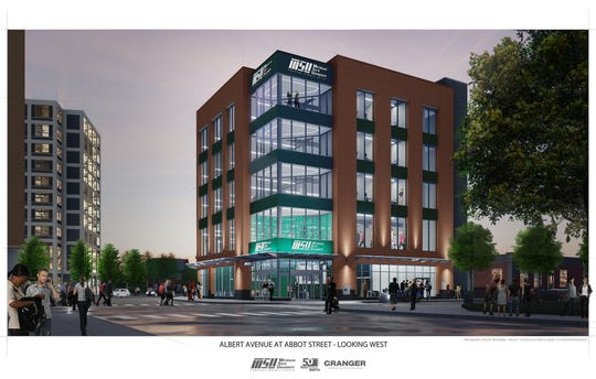 Michigan State University Federal Credit Union is eyeing downtown East Lansing for a commercial building with a branch, space for offices and community gatherings and more.