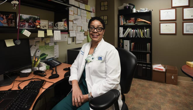 Kimberly Henry is a nurse at Sparrow Hospital in Lansing.  She has worked her way up from a housekeeper to a nurse.  She has a master's degree, and is now working on her PhD.