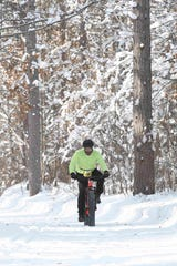 Fat biking is one of three legs in the Forest Frenzy winter triathlon in Boulder Junction.