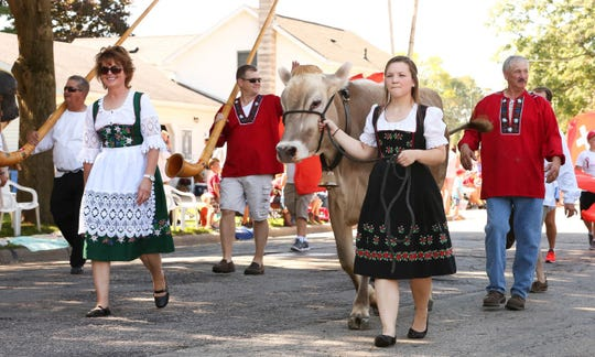 Anticipate cheese consumption in many forms if you attend the Swiss Colony Cheese Days Parade in Monroe, where brown Swiss cows traditionally lead the way.
