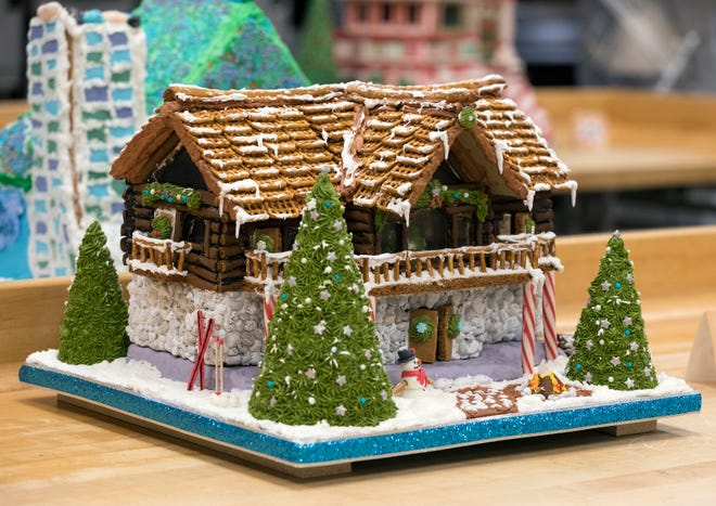 Gingerbread houses entered by MATC students come in all types, such as this lodge from 2018.