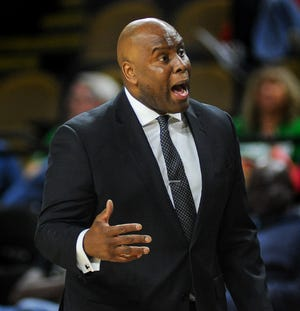 UW-Milwaukee coach Pat Baldwin saw his team fall to George Washington in the consolation final of the Islands of the Bahamas Showcase.