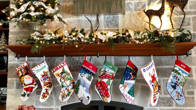 Holiday Mantel Displays Memories Collectibles Shown Each Christmas
