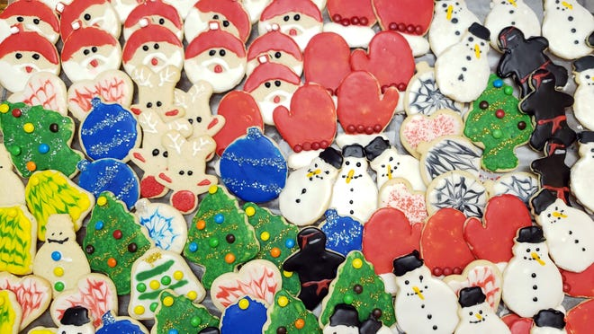 No time to make pretty putzy cookies like this? Check out one of many cookie sales across the Milwaukee area. These cookies were among the selection at last year's sale at Faith Community Church in Frankin.