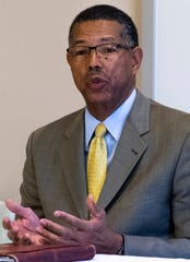 Tony Haygood, Mayor of Tuskegee, speaks during a roundtable discussion on environmental justice in the Black Belt on the Wallace Community College campus in Selma, Ala., on Monday, November 25, 2019.