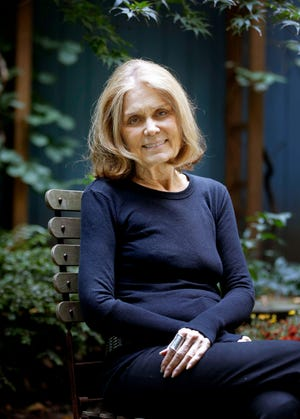 In this Monday, Oct. 19, 2015, photo, Gloria Steinem poses for a picture at her home in New York.  (AP Photo/Seth Wenig)