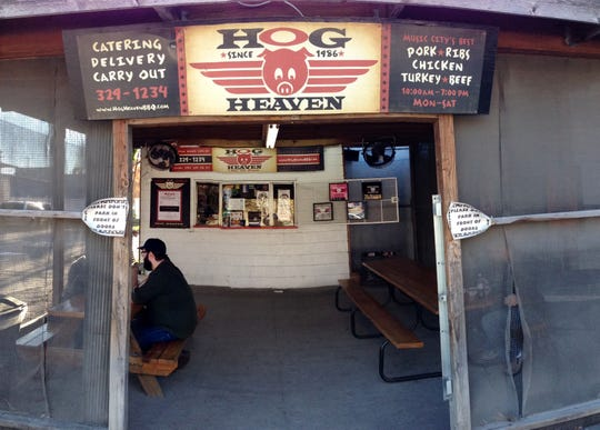 Hog Heaven restaurant that owned by Katy and Andy Garner.