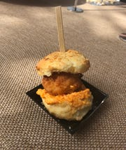 The Rooster served this fried chicken biscuit at the Paradise Coast Wine and Food Experience Saturday, Nov. 23, 2019.