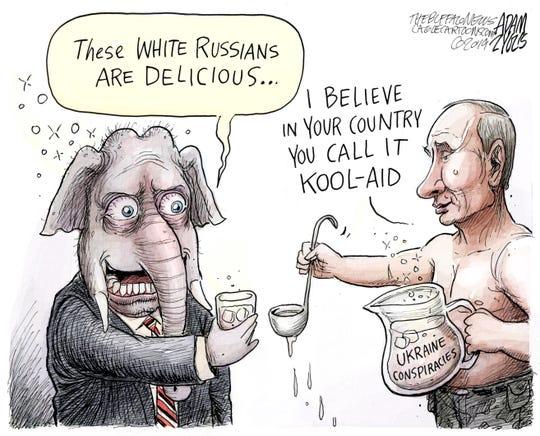 GOP, Russia and Ukraine conspiracies.
