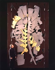 The Paley Gates at the Baker Museum with sculptor Albert Paley