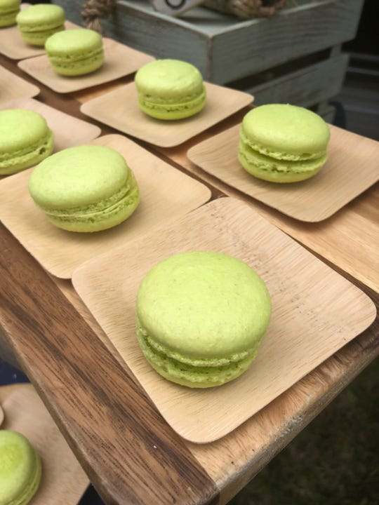The margarita macaron by Hamilton Harbor Yacht Club was light and fluffy at the 2019 Paradise Coast Wine and Food Experience at Cambier Park Nov. 23.