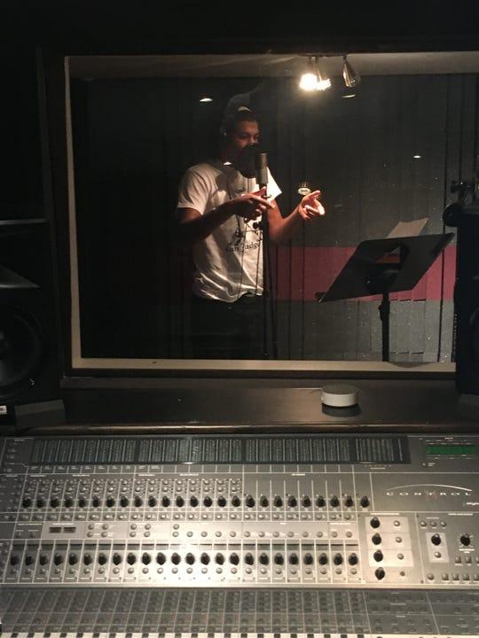 Max Martin records his first album in a local recording studio.