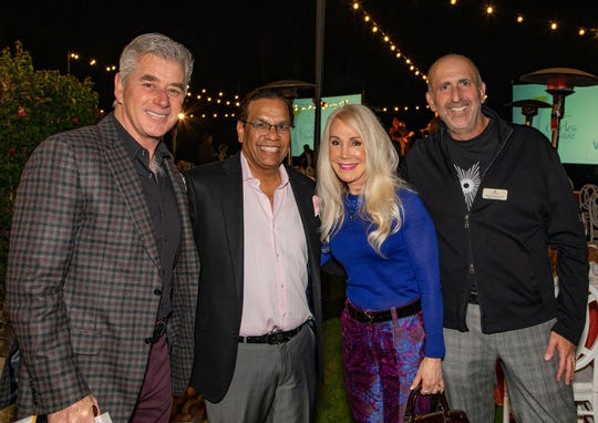 Kelly Daugherty joined Raju Mehta, Kathy Valentine and Richard Weintraub at Corks & Cuisine on Nov. 16.