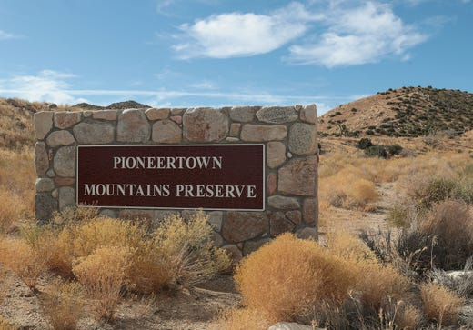 The entrance to the Pioneertown Mountains Preserve, November 15, 2019.