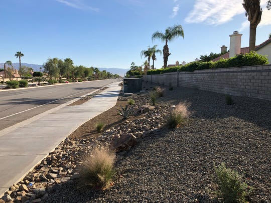 Landscape improvement projects in the north end of La Quinta, such as this one around the Highlands community, are funded through revenue from the Measure G sales tax increase that went into effect in 2017.