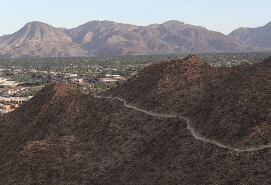 The Bump and Grind Trail cuts across the hillside in the mountains above Palm Desert, November 15, 2019.