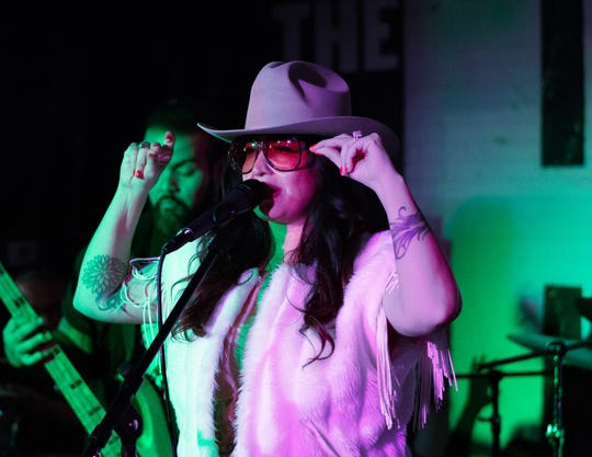 Cakes performing at The Hood Bar and Pizza in Palm Desert, Calif. on Sep. 28, 2019.