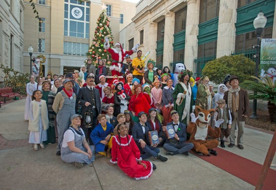Families enjoy Winterfest Sunday, November 24, 2019 in Downtown Pensacola.