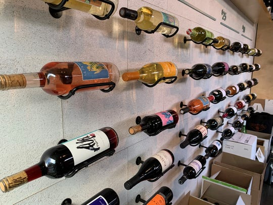 The display of bottles available at Sauvage on Nov. 21, 2019.