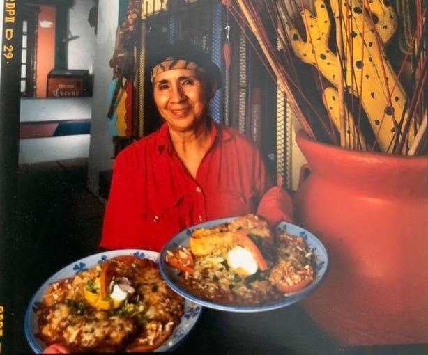 Chef Victoria Chavez of Los Dos Molinos New Mexican style restaurant.