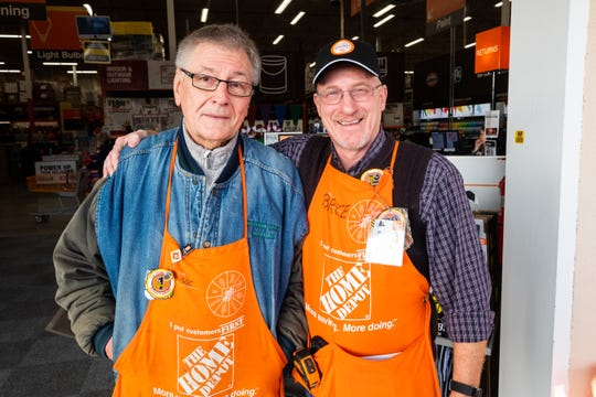 Wayne Pyden, left, poses for a photo with store manager Bruce Simon Monday, Nov. 25, 2019, at Home Depot in Fort Gratiot. Pyden served on the Marysville City Council from 2013 to 2017, and was elected this year to be Marysville's mayor.