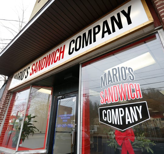 Mario's Sandwich Company in the Village of Wappingers Falls on November 25, 2019.