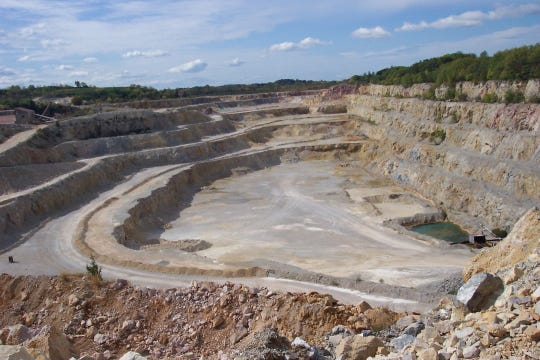A view of the RHI Magnesita quarry looking west.