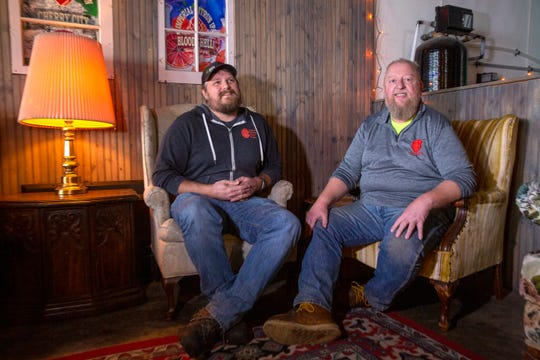 Santiam owners Jim Smiley and Ian Croxall pose for a portrait on Nov. 13 at Santiam Brewing in Salem.