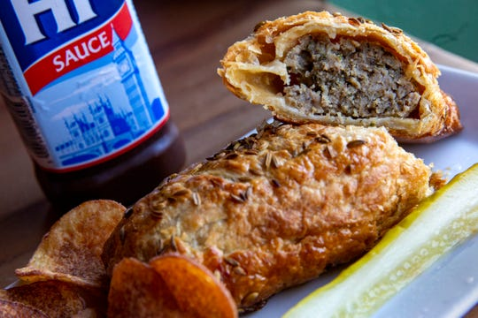 A sausage roll served at Santiam Brewing in Salem on Nov. 13.