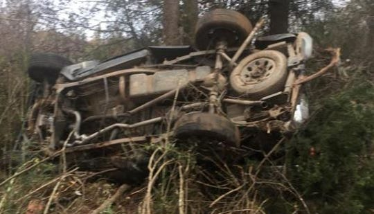 The driver of a black Chevrolet pick-up truck that crashed on Friday died over the weekend.
