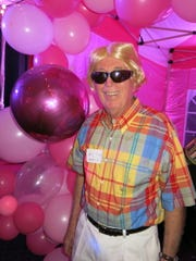 "Tem McElroy arrived as Barbie's ""Ken"" to ""Waynette's Birthday Bash."""
